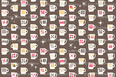 King of Cups (Short Americano)    vintage coffee mugs retro kitchen geometric fire king milk glass midcentury modern atomic