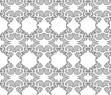 Monstera Damask fabric by flyingfish on Spoonflower - custom fabric