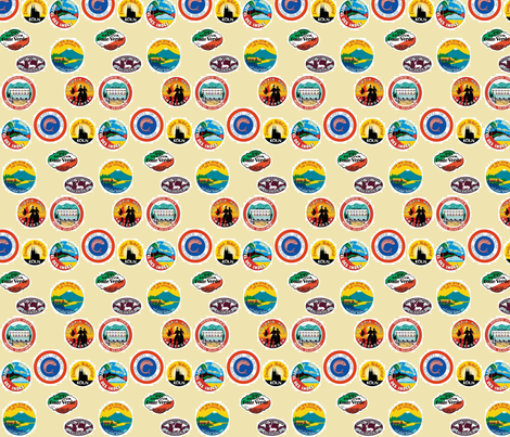 World Travel fabric by flyingfish on Spoonflower - custom fabric