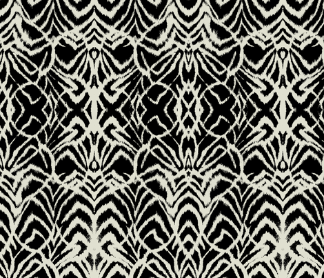 wild ikat Black and white fabric by ninaribena on Spoonflower - custom fabric