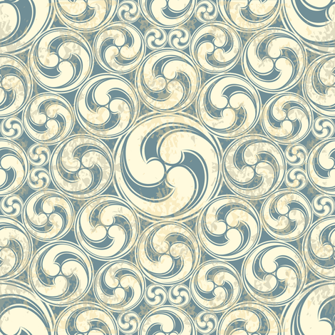 Vintage waves fabric by antuanetto on Spoonflower - custom fabric