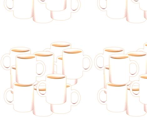 Coffee Mugs fabric by wwgoddess on Spoonflower - custom fabric