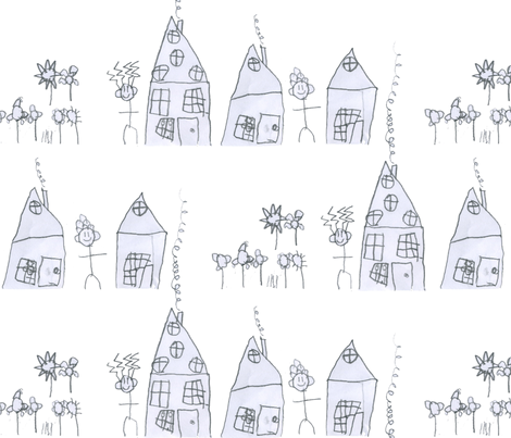 Village of the Crazy Haired People fabric by little-mac on Spoonflower - custom fabric