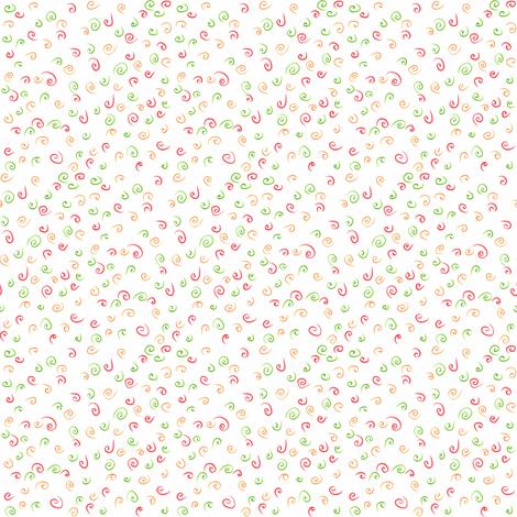 Ditsy swirls fabric by greennote on Spoonflower - custom fabric