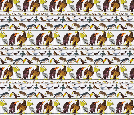 Birds fabric by flyingfish on Spoonflower - custom fabric