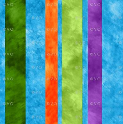 mod watercolor stripes