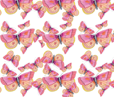 Just the Butterflies fabric by aftermyart on Spoonflower - custom fabric