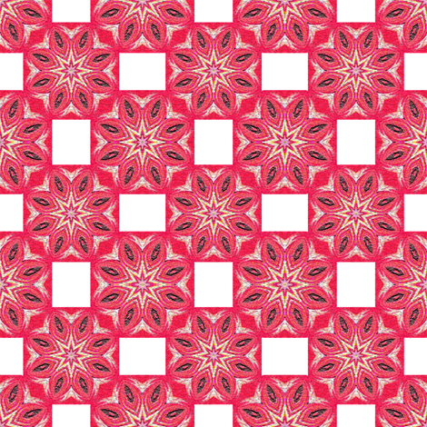 Red Stars and White Rectangles fabric by anniedeb on Spoonflower - custom fabric