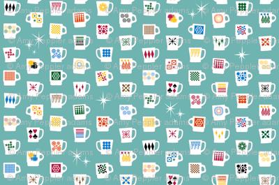 King of Cups (Short) || vintage coffee mugs retro kitchen geometric milk glass midcentury modern atomic