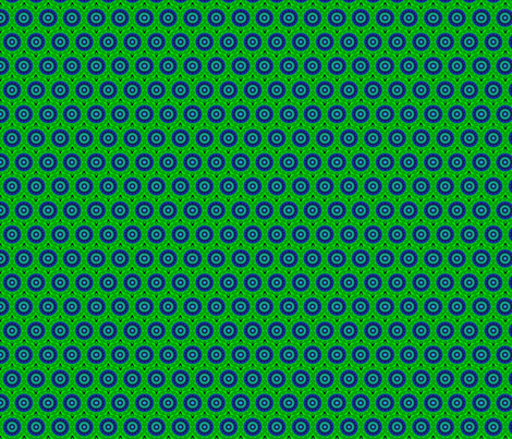 Blue Stars in a Green Sky fabric by anniedeb on Spoonflower - custom fabric