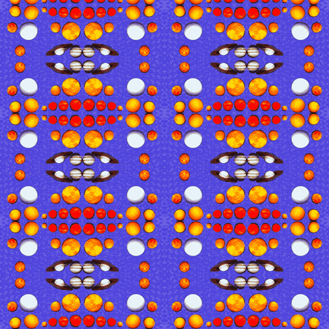 Mirrored Planets fabric by robin_rice on Spoonflower - custom fabric