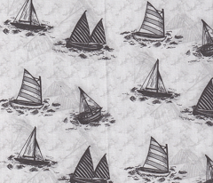 Antique Sailboats - Greyscale