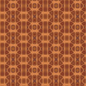 Copper Oval Interlock Geometric © Gingezel™ 2012