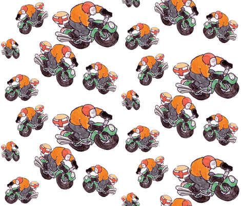 motorcycle riders fabric by susanquekett on Spoonflower - custom fabric