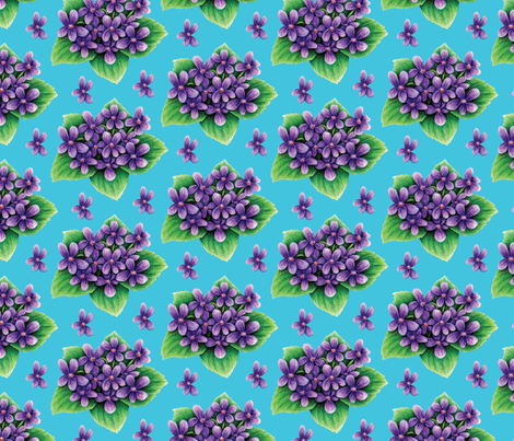 Violets fabric by jjtrends on Spoonflower - custom fabric