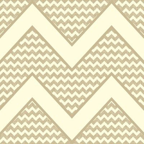 chevron on linen canvas background