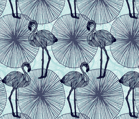 Flamingos fabric by demigoutte on Spoonflower - custom fabric