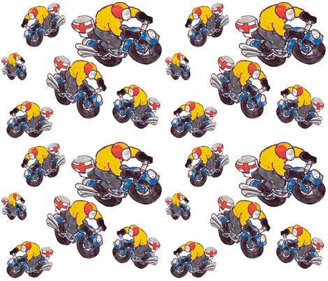 motorcycle riders 2 fabric by susanquekett on Spoonflower - custom fabric