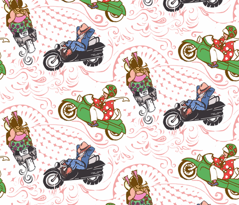 Biker Bliss fabric by thats_artrageous on Spoonflower - custom fabric