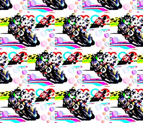 motorbiking, motorcycling, motorbike riding fabric by vintage_visage on Spoonflower - custom fabric