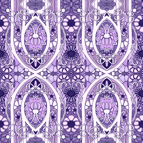 Purple Does What It Wants fabric by edsel2084 on Spoonflower - custom fabric