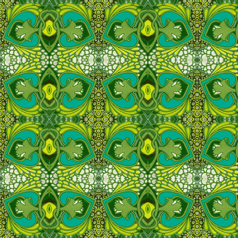Walking Past the Pond  (blue variation) fabric by edsel2084 on Spoonflower - custom fabric