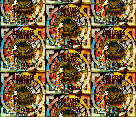 Real Eyes Realize Real Lies fabric by whimzwhirled on Spoonflower - custom fabric