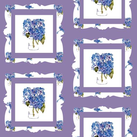 Hydrangea Frame fabric by karenharveycox on Spoonflower - custom fabric
