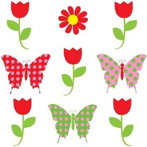 butterfly-tulips