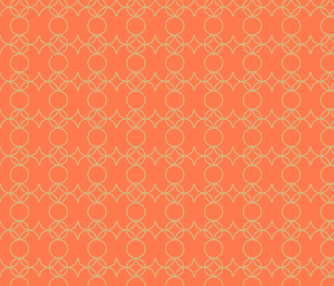 Iron-y_in_coral fabric by goldentangerinedesigns on Spoonflower - custom fabric