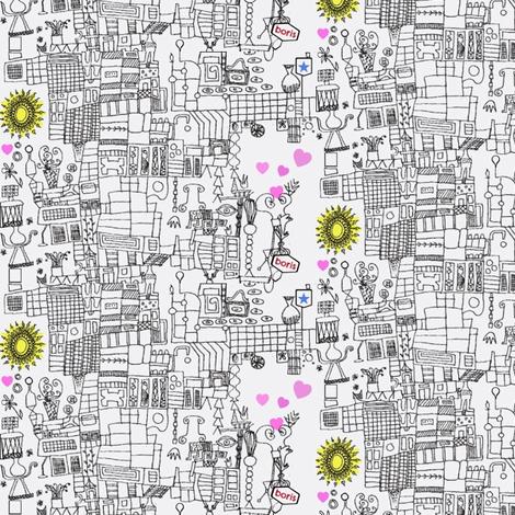 City of Love Density Experiment fabric by boris_thumbkin on Spoonflower - custom fabric