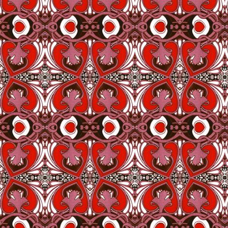 Send My Love to Tiffany fabric by edsel2084 on Spoonflower - custom fabric