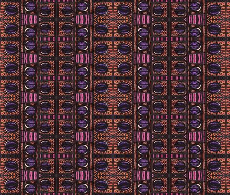 rhythm in orange and pink fabric by kcs on Spoonflower - custom fabric