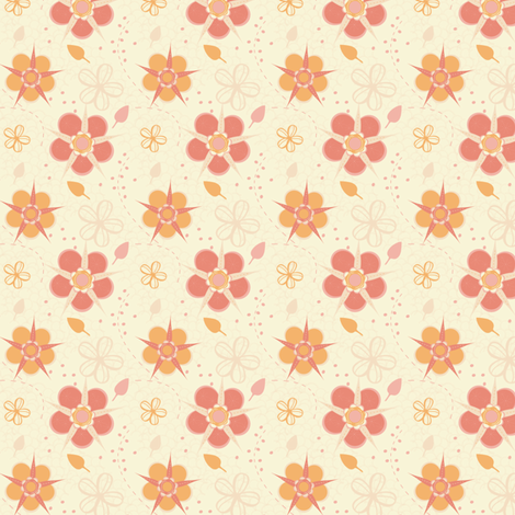 Sorbet Cherry Blossoms fabric by eppiepeppercorn on Spoonflower - custom fabric
