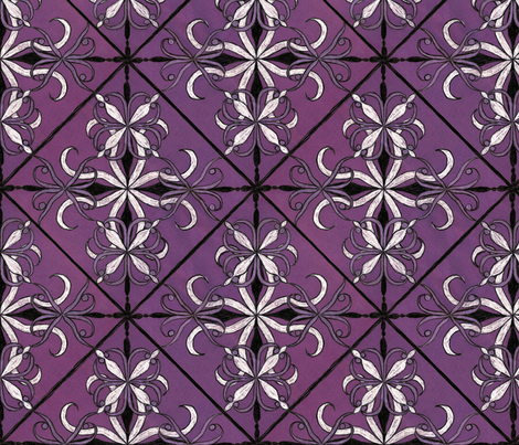 hand_drawn_tile_motif_c1958_v2 fabric by fireflower on Spoonflower - custom fabric