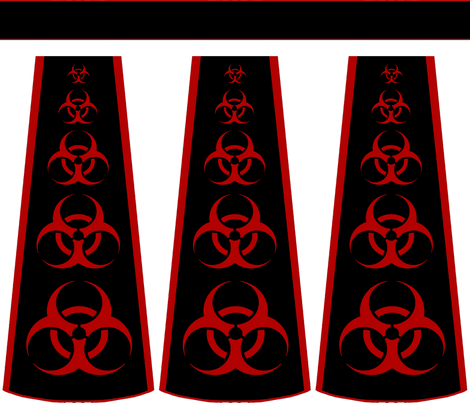 Cut-and-sew biohazard bouffant skirt fabric by nalo_hopkinson on Spoonflower - custom fabric