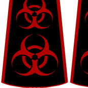 Cut-and-sew biohazard bouffant skirt