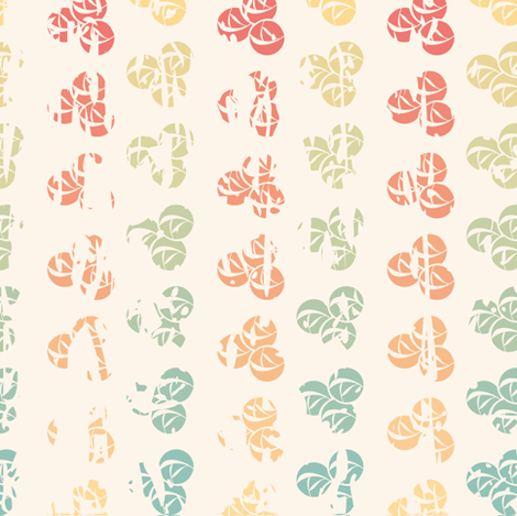 Retro color roses grange fabric by antuanetto on Spoonflower - custom fabric