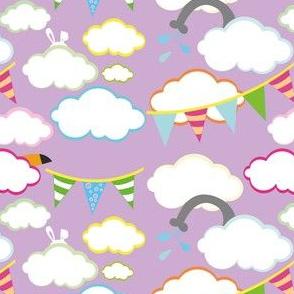clouds with hidden animals