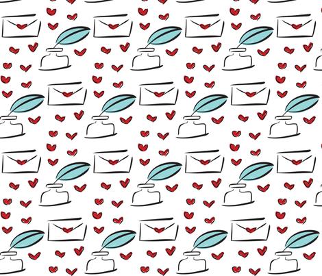 Love Letters fabric by stefaniedean on Spoonflower - custom fabric