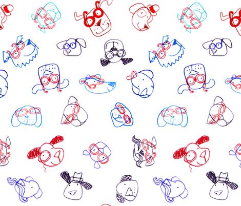 JoBrownSpectacularDogs fabric by happytomato on Spoonflower - custom fabric