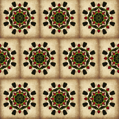 Rose Star Tile fabric by anniedeb on Spoonflower - custom fabric