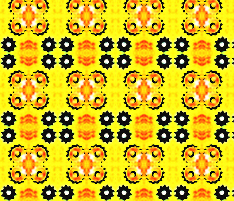 MotorcycleSprocketMontagemini fabric by tequila_diamonds on Spoonflower - custom fabric