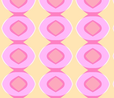 Circle Plaid (pink, blush & sunshine) fabric by pattyryboltdesigns on Spoonflower - custom fabric