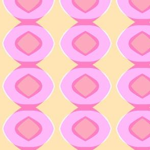 Circle Plaid (pink, blush & sunshine)