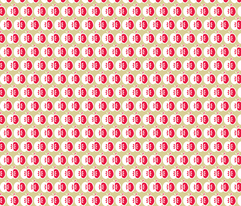 Red Apples (2) fabric by mondaland on Spoonflower - custom fabric