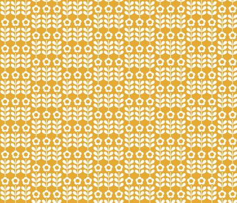 Golden Flower fabric by mondaland on Spoonflower - custom fabric