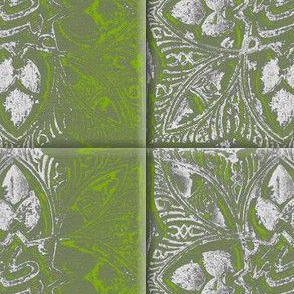 alhambra tile pattern in green