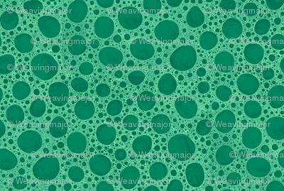 bone micrograph in green