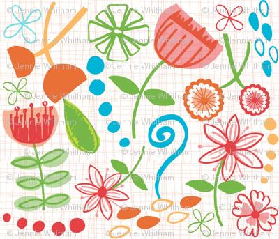 hand drawn flowers version 2